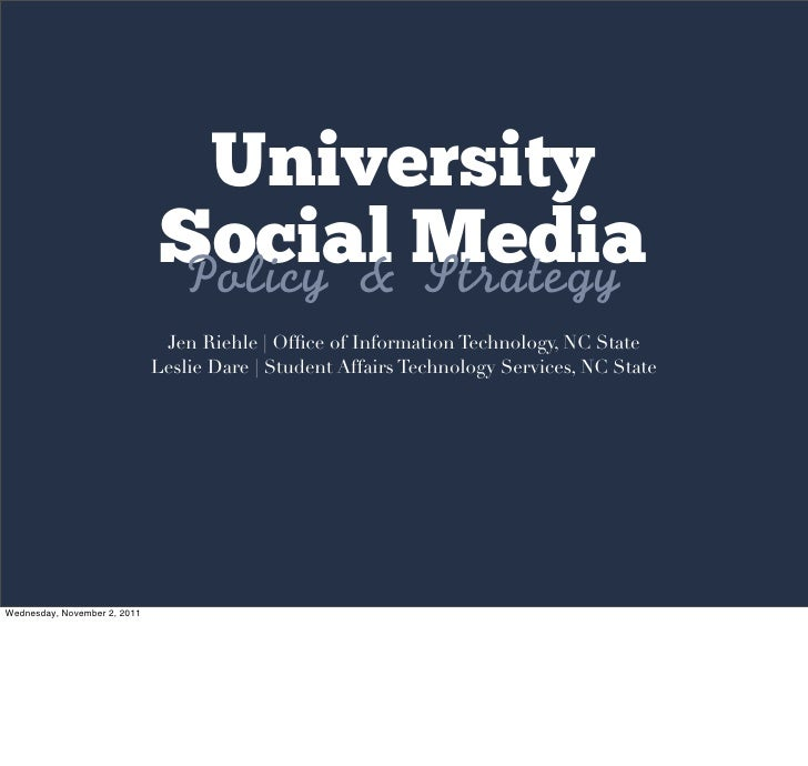 Laying Down the Law: Social Media Policy and Strategy