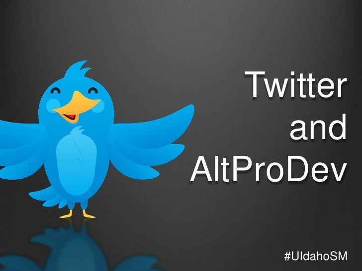 UIdaho Student Affairs: Intro to Twitter for Professional Development