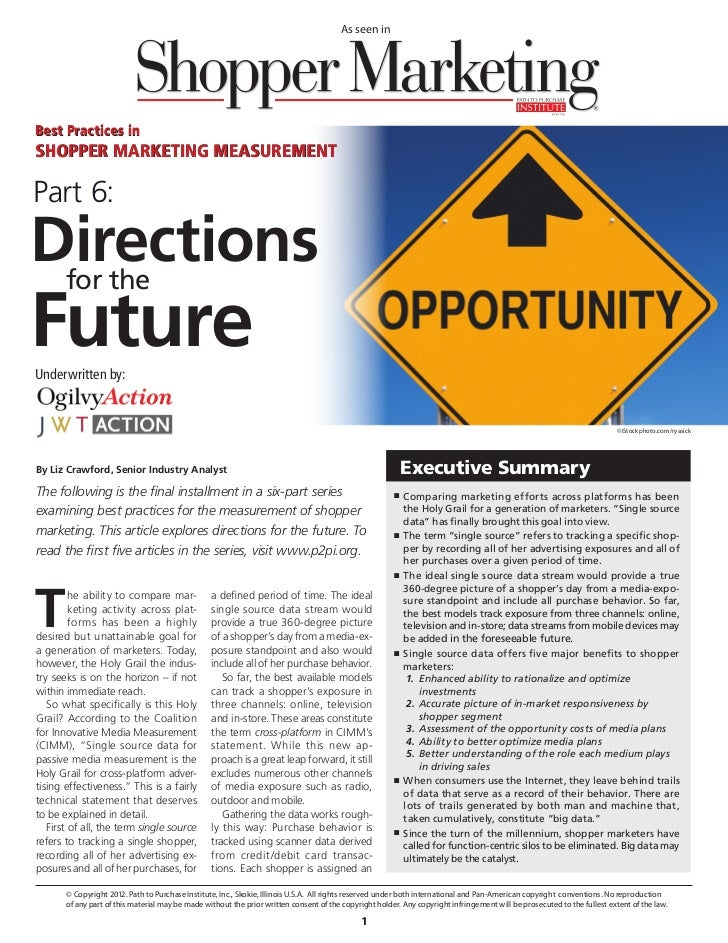 Directions for the Future