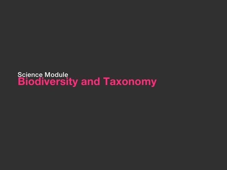 Intro to biodiversity and taxonomy