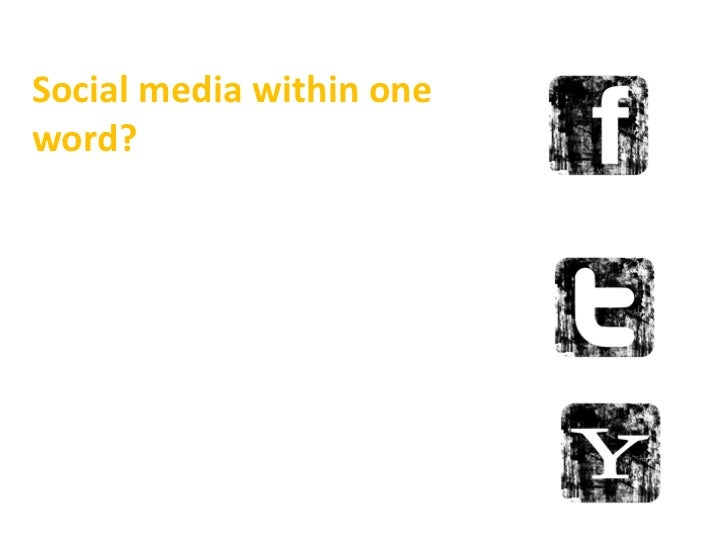 Social media within one word?<br />