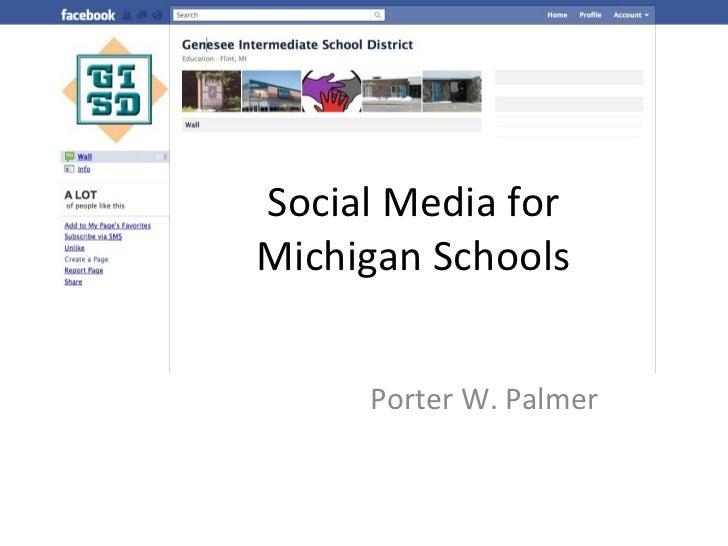Social Media for Michigan Schools