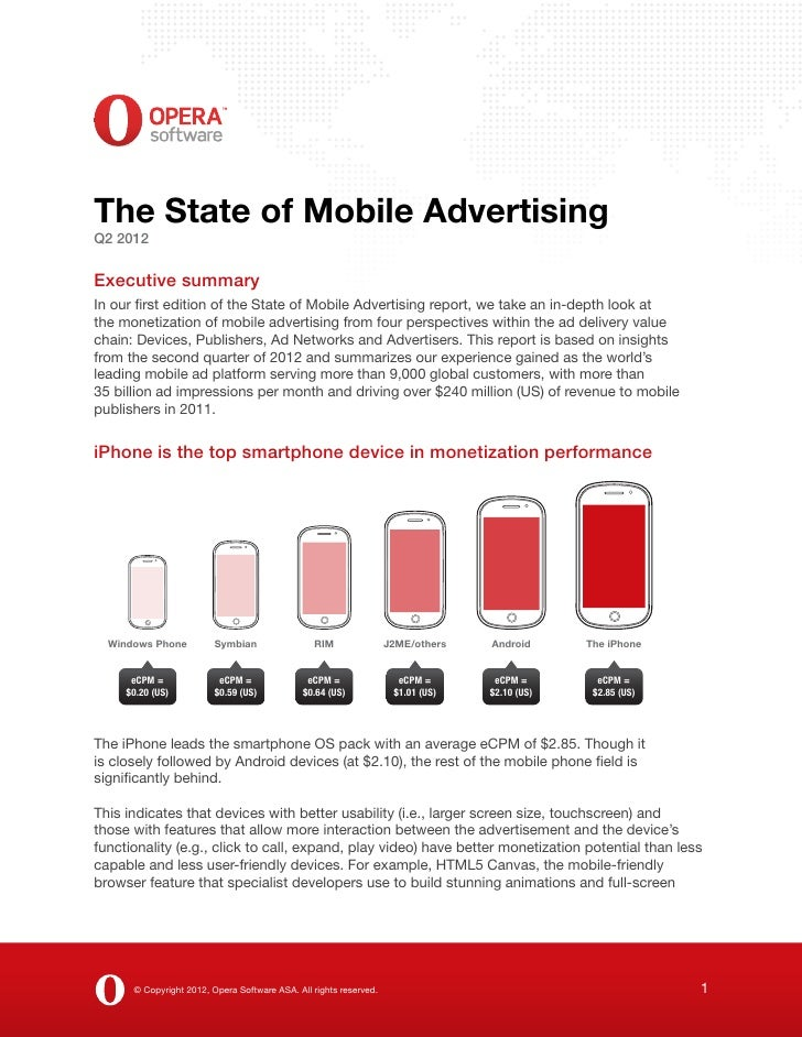The State of Mobile Advertising Q2 2012