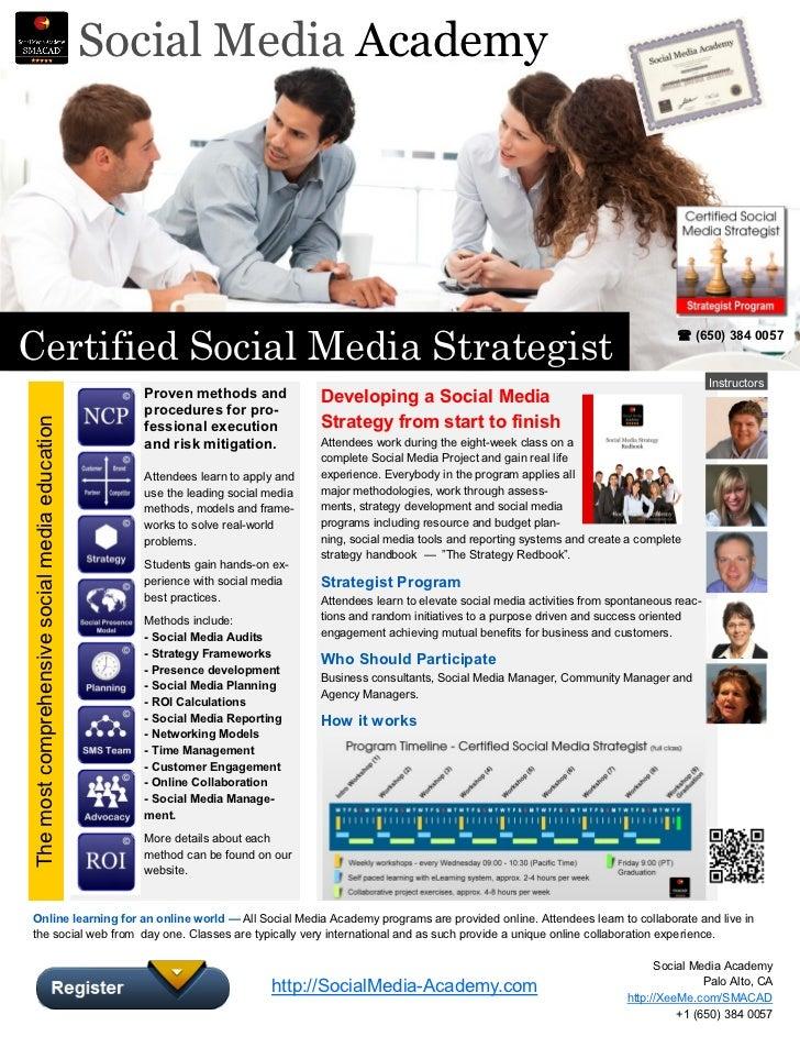 Certified Social Media Strategist Fall 2012 - SMACAD