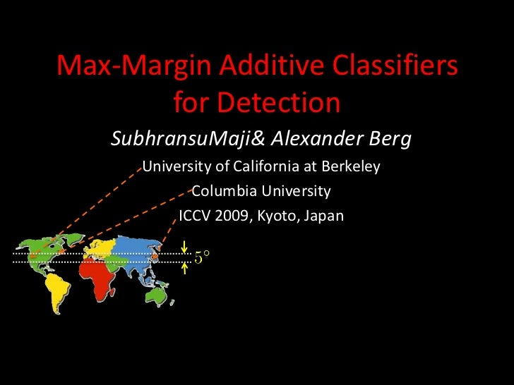 ICCV2009: Max-Margin Ađitive Classifiers for Detection