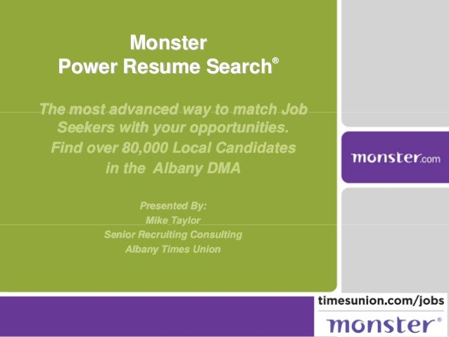 The most advanced way to match Job Seekers with your opportunities. Find over 80,000 Local Candidates in the Albany DMA Pr...