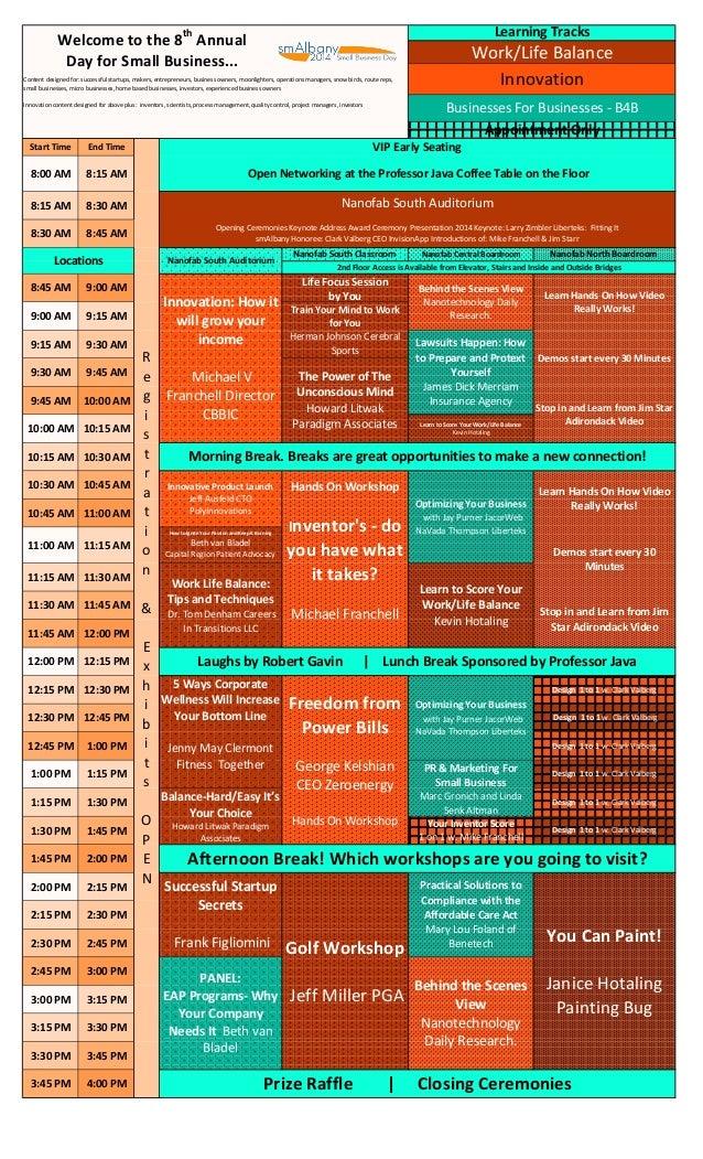 smAlbany july 17 2014 work life balance b4b innovation suny cnse  suny it schedule