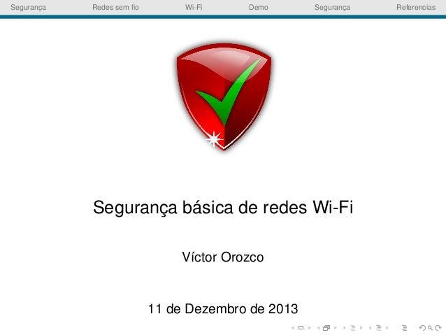Segurança básica de redes Wi-Fi