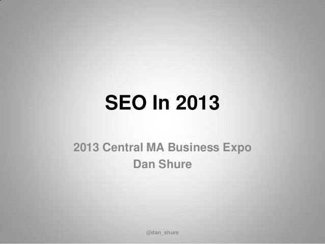 Small business-seo-2013-centralmass-expo