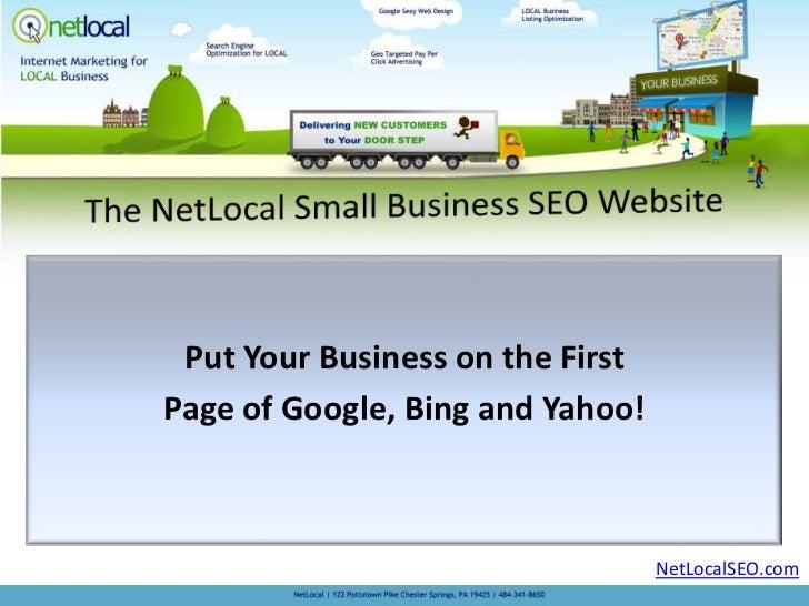 NetLocal Small Business SEO Website