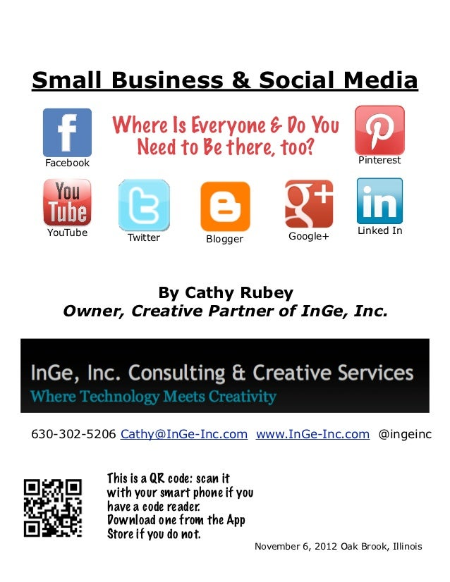 Small Business & Social Media             Where Is Everyone & Do You              Need to Be there, too?                  ...