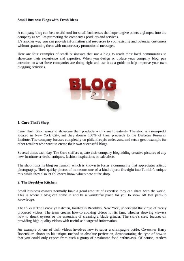 Small business blogs-key difference