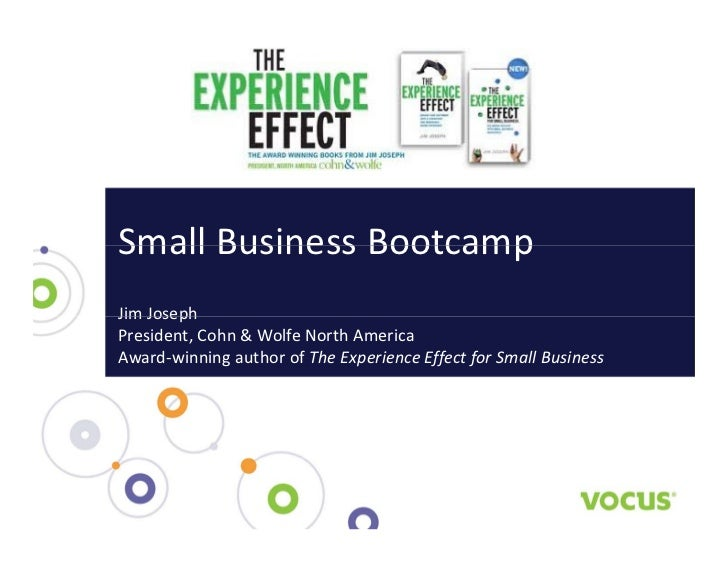 Small Business Boot Camp with Jim Joseph at Vocus