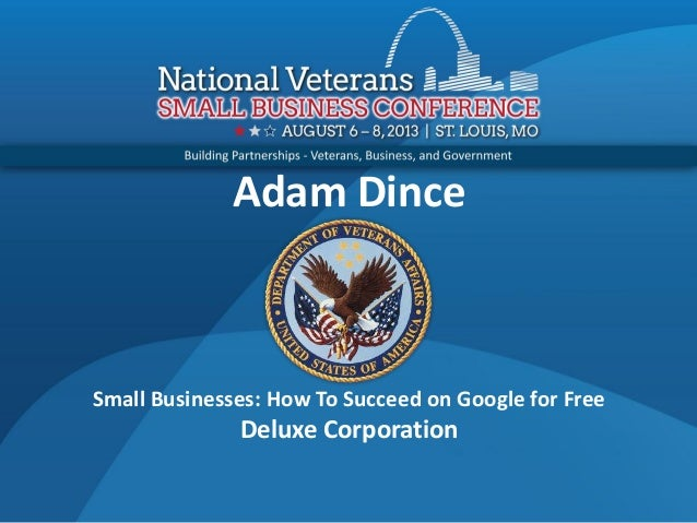 Adam Dince Small Businesses: How To Succeed on Google for Free Deluxe Corporation