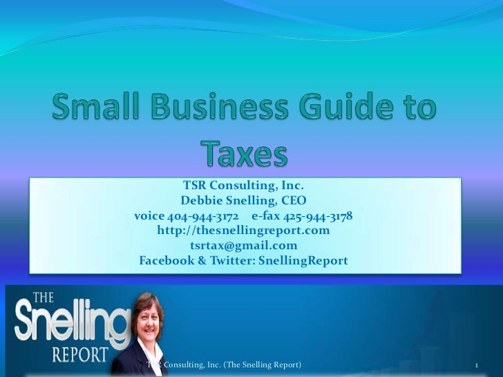 Small business guide to taxes 03032010