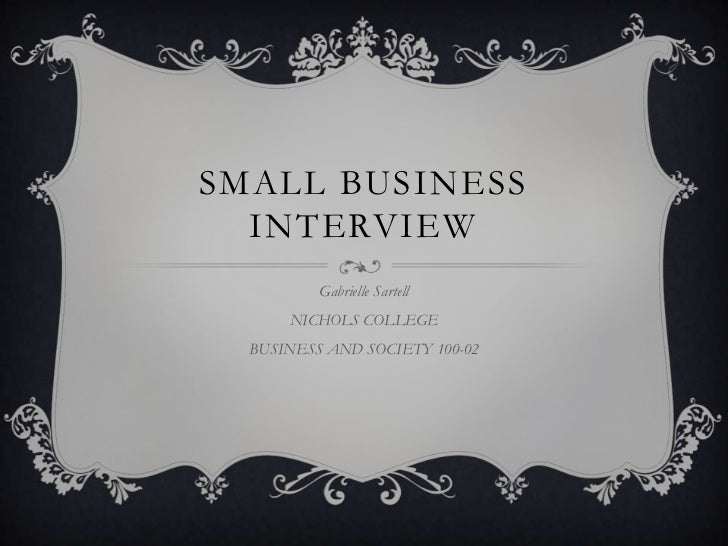 Small business interview