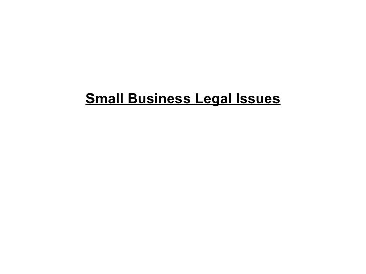 Small Business Legal Issues