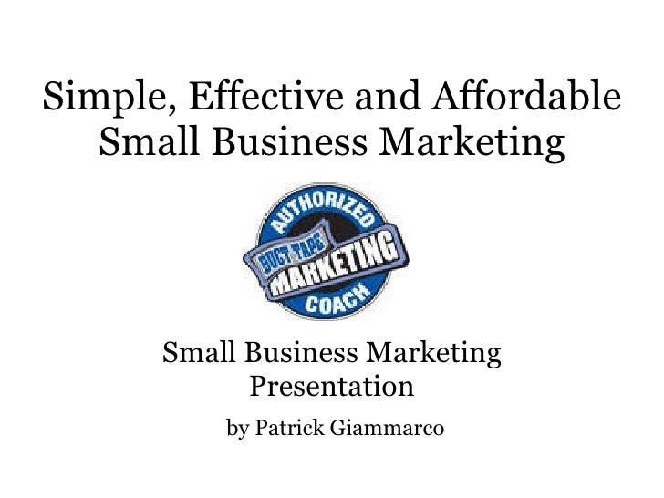 Small Business Marketing   Dtm 7 Steps