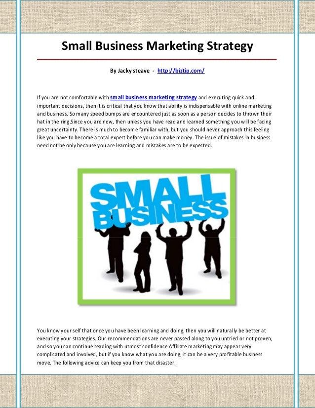 Small Business Marketing Strategy_____________________________________________________________________________________    ...