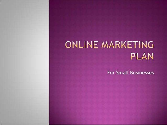 Small Business Online Marketing Plan