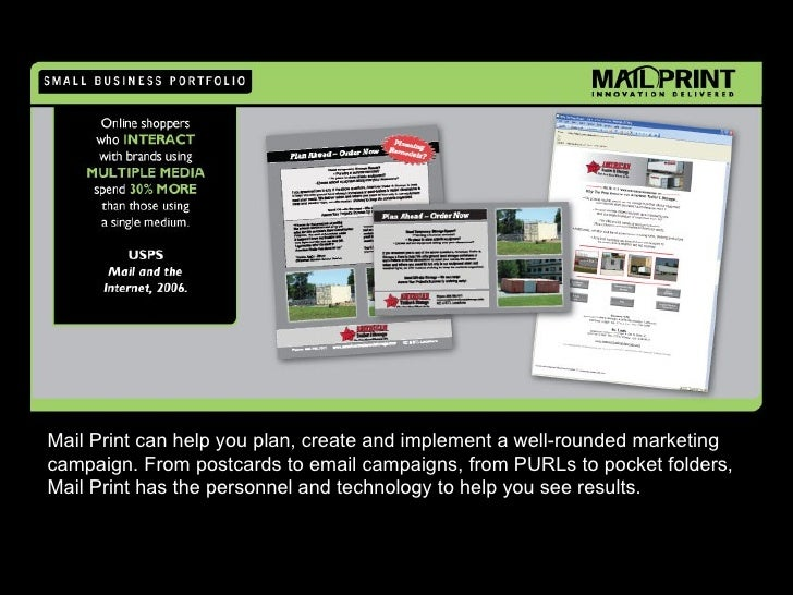 Mail Print can help you plan, create and implement a well-rounded marketing campaign. From postcards to email campaigns, f...