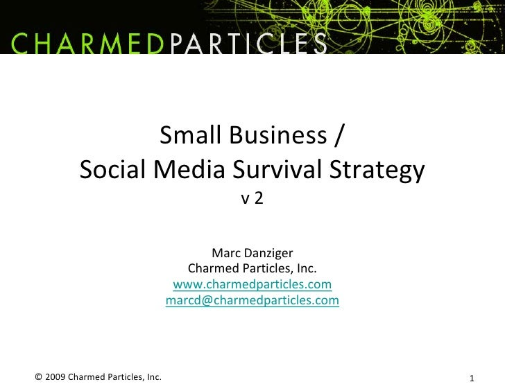 © 2009 Charmed Particles, Inc. <br />1<br />Small Business / Social Media Survival Strategyv 2<br />Marc Danziger<br />Cha...