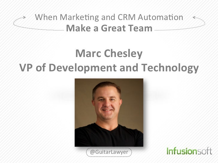 When	  Marke2ng	  and	  CRM	  Automa2on	               Make	  a	  Great	  Team	                  Marc	  Chesley	  VP	  of	...