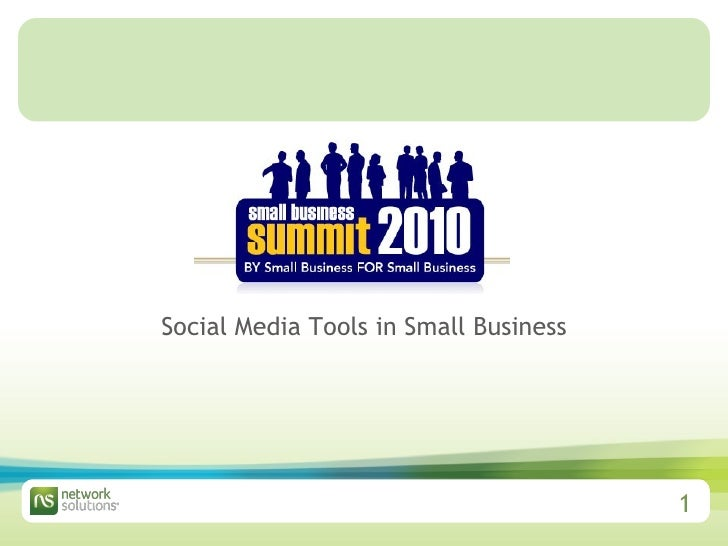 Social Media Tools in Small Business