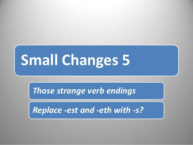 The Power of Small changes 5