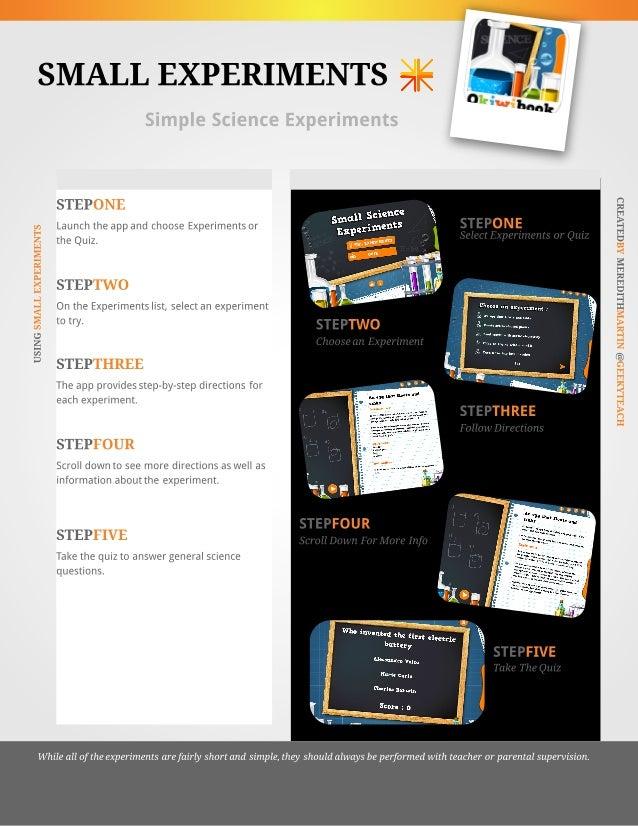 Small Experiments App Tutorial