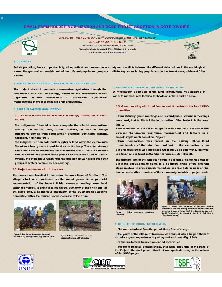 SMALL FARM HOLDER MOBILIZATION AND BGBD PROJET ADOPTION IN CÔTE D'IVOIRE                                                 J...