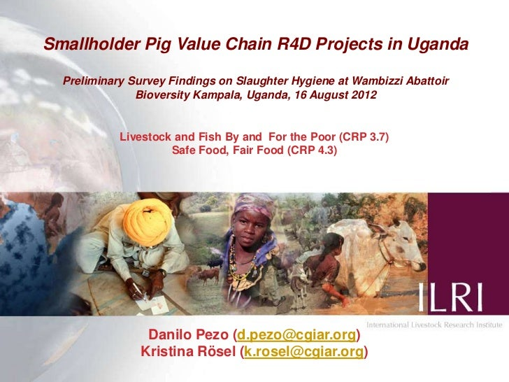 Smallholder Pig Value Chain R4D Projects in Uganda  Preliminary Survey Findings on Slaughter Hygiene at Wambizzi Abattoir ...