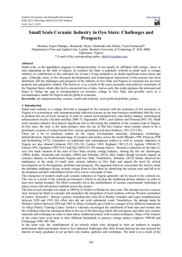 Journal of Economics and Sustainable Development www.iiste.org ISSN 2222-1700 (Paper) ISSN 2222-2855 (Online) Vol.4, No.11...