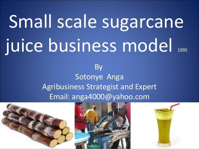 Small scale sugarcane juice business model by sotonye anga 1995