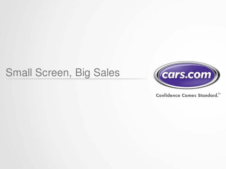 Small Screen, Big Sales