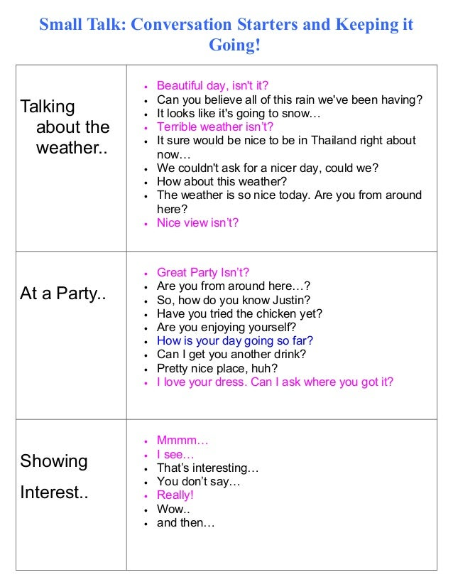 social skills how to start a conversation