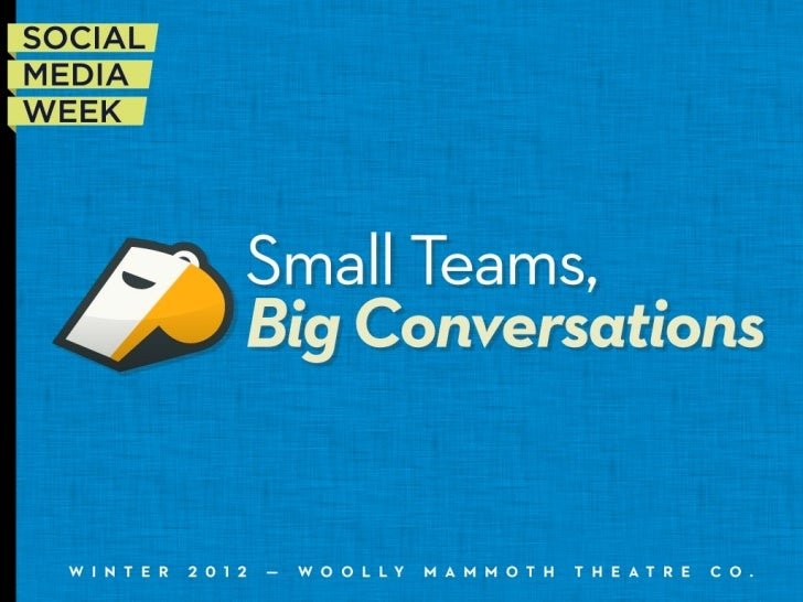 Small Teams, Big Conversations‣   Common Issues‣   Uncommon Solutions‣   Things to Remember                         #smwAn...