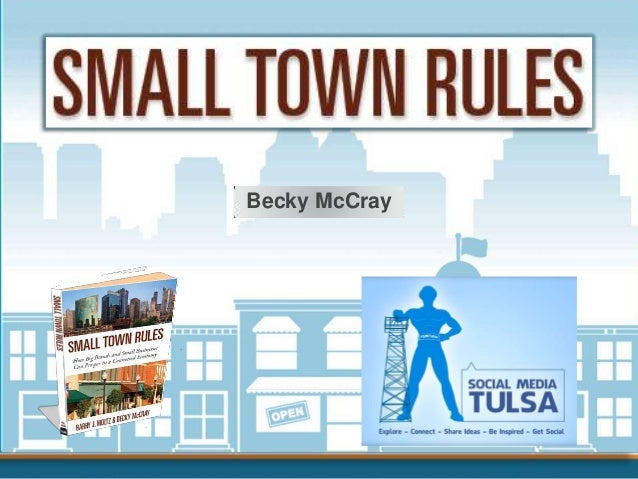 Small Town Rules by @BeckyMcCray