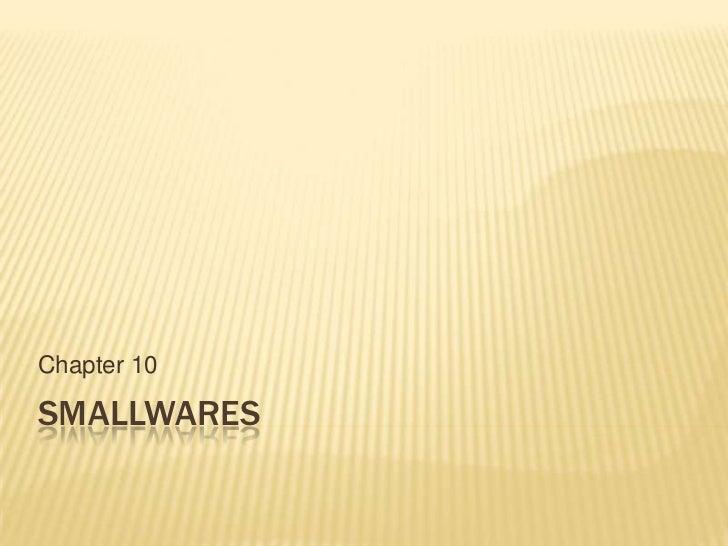 Chapter 10SMALLWARES