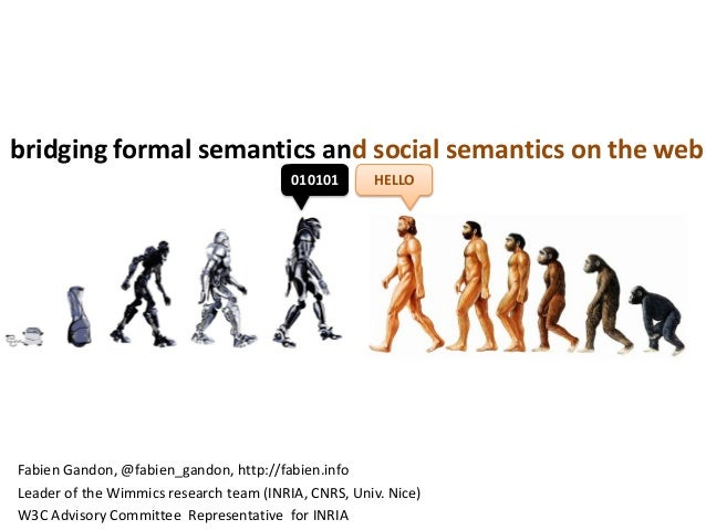 bridging formal semantics and social semantics on the web