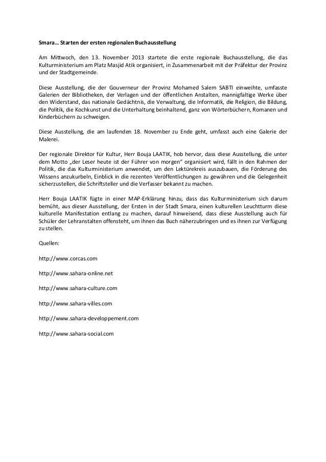 Smara… Starten der ersten regionalen Buchausstellung Am Mittwoch, den 13. November 2013 startete die erste regionale Bucha...