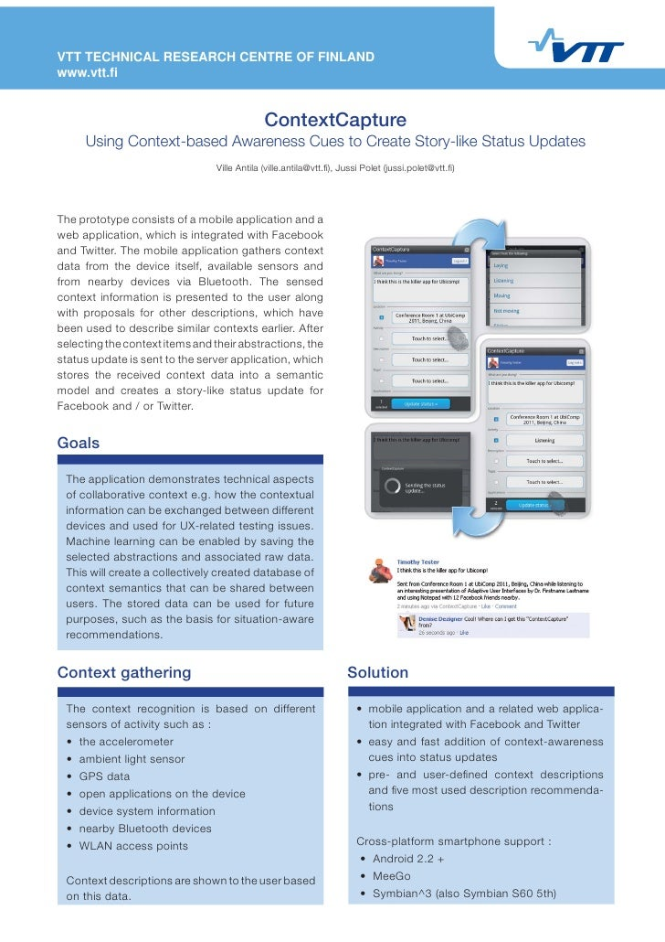 UbiComp2011: ContextCapture (Poster)