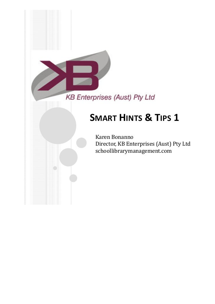 Smart hints and tips series 1