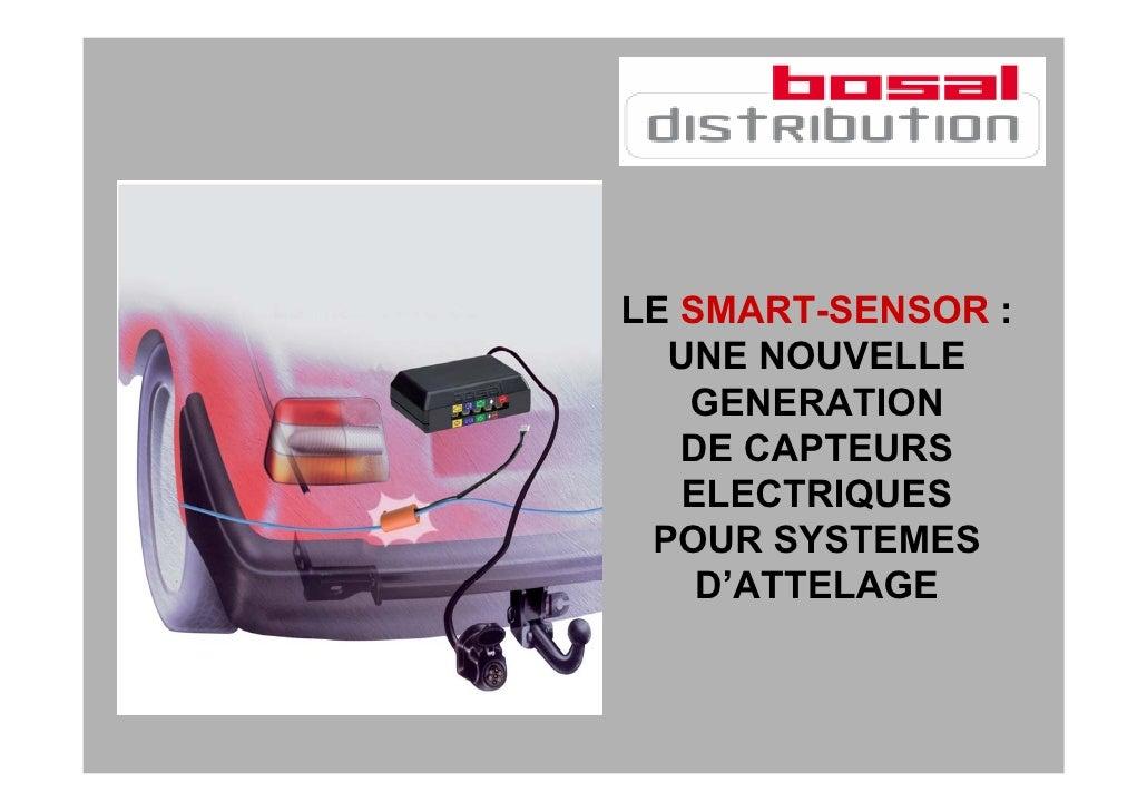 LE SMART-SENSOR :   UNE NOUVELLE    GENERATION    DE CAPTEURS    ELECTRIQUES  POUR SYSTEMES     D'ATTELAGE