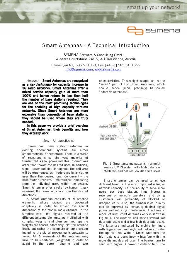Smart antennas  for umts