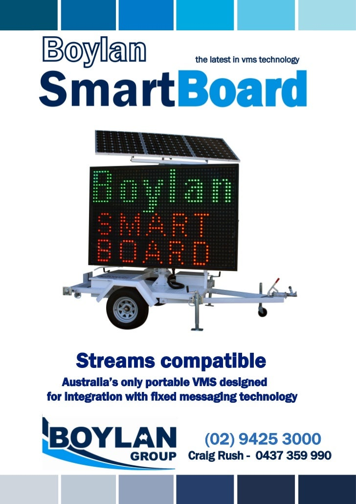 Streams compatible   Australia's only portable VMS designedfor integration with fixed messaging technology                ...