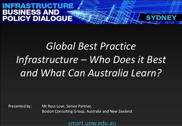 Smart infrastructure business and policy dialogue 2014 for Consul best practices