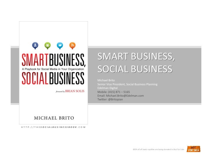 Smart Business Social Business by Michael Brito