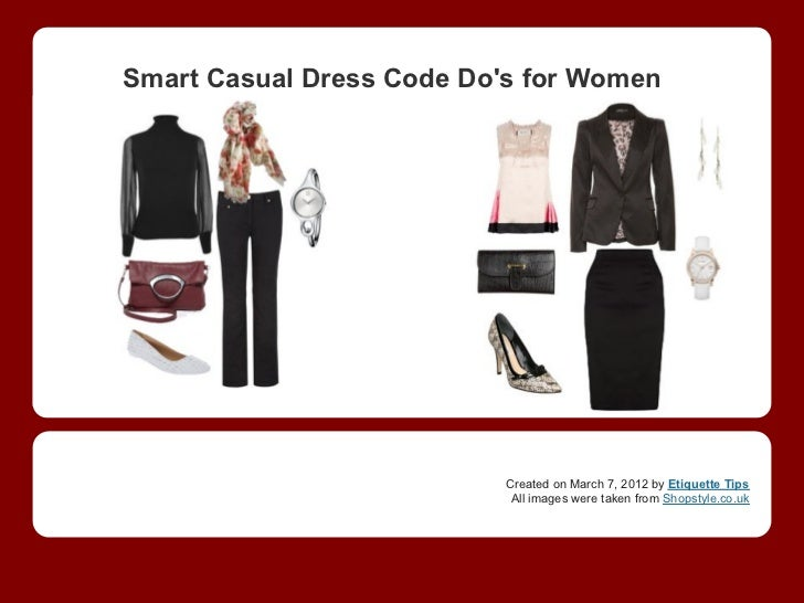Casual Dress Code For Women