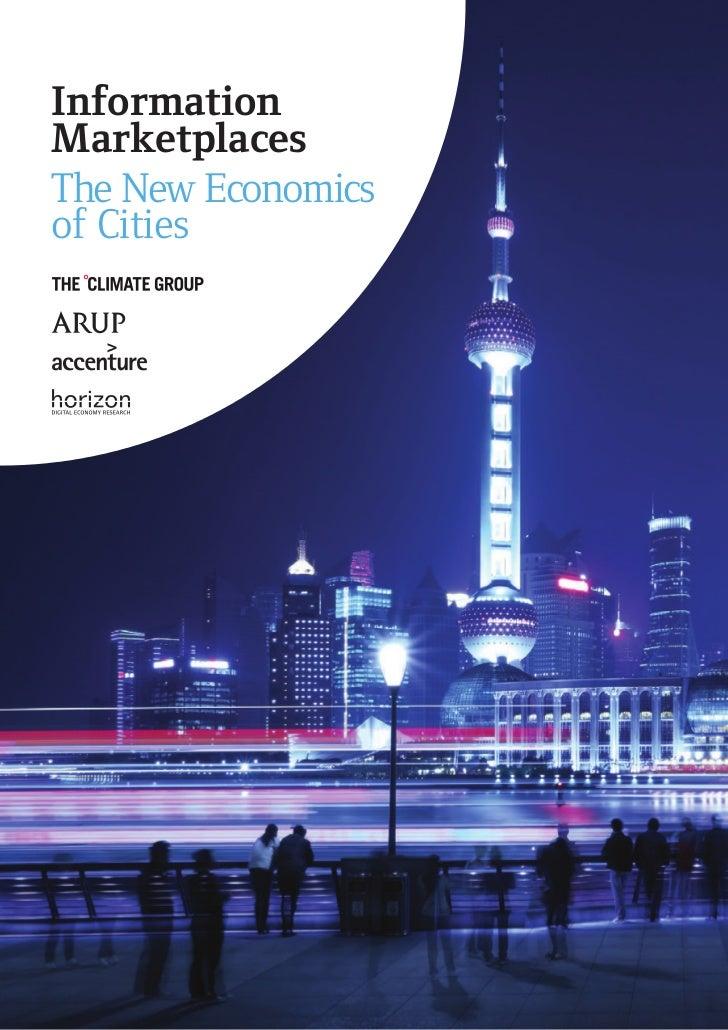 InformationMarketplacesThe New Economicsof Cities